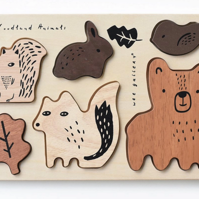 Volume One Wood Tray Puzzle - Woodland Animals