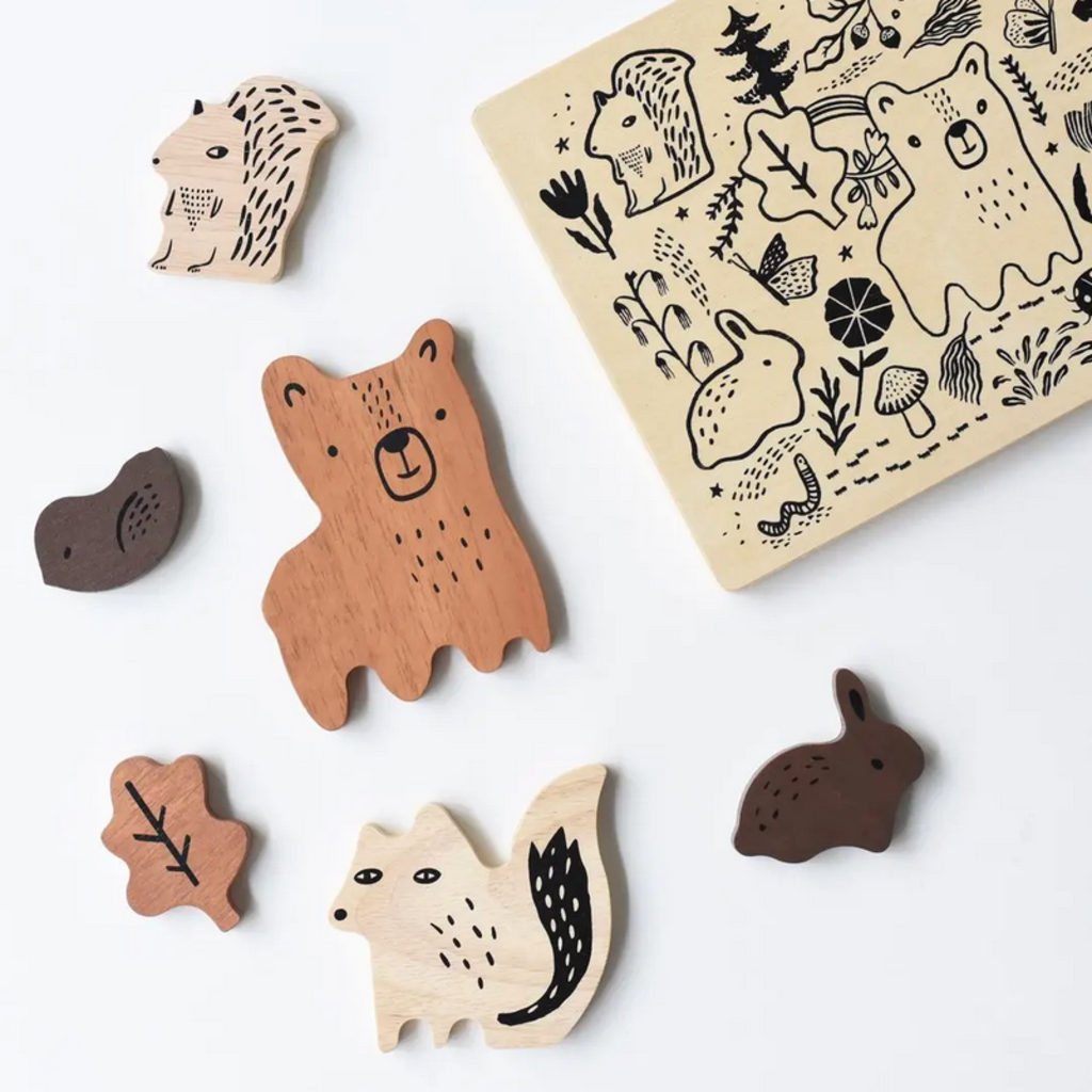 Volume One Wood Tray Puzzle - Woodland Animals