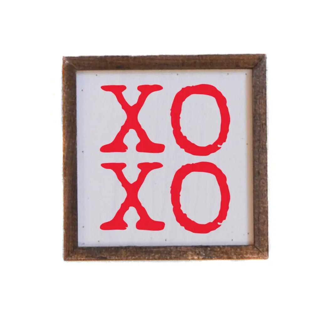 6X6 Wood Sign - XOXO Valentines