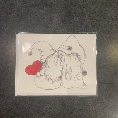 Nadine Bresina Greeting Card - Gnome Love
