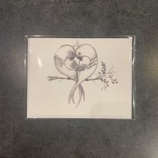 Nadine Bresina Greeting Card - Lovebirds