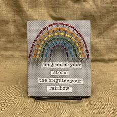 Strung on Nails String Art - Storm / Rainbow