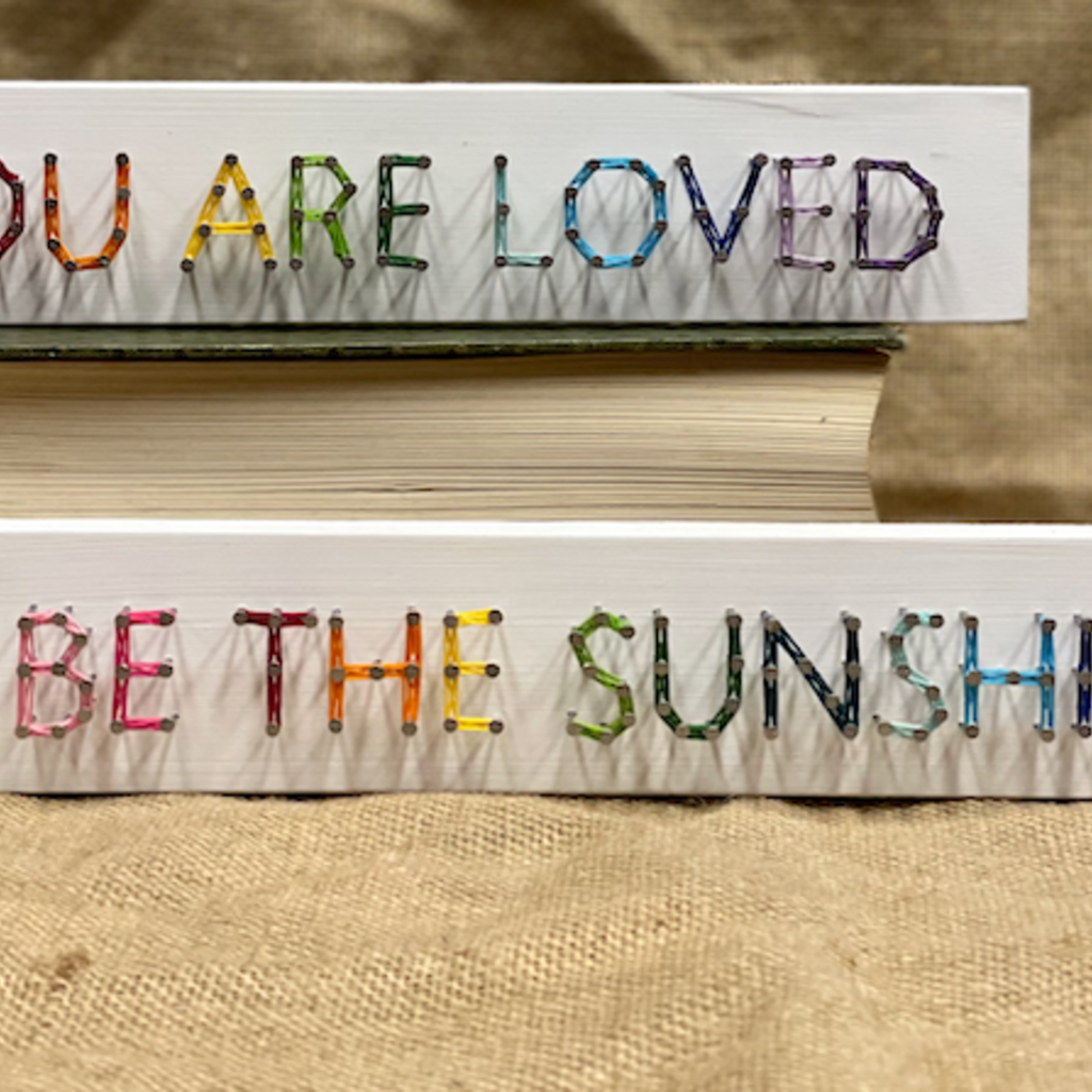 Strung on Nails String Art - Rainbow Phrases Large (Assorted)
