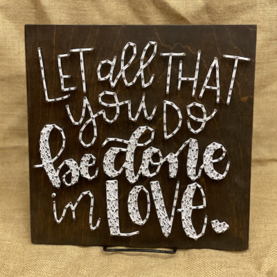 Strung on Nails String Art - 11X11 Assorted Phrases