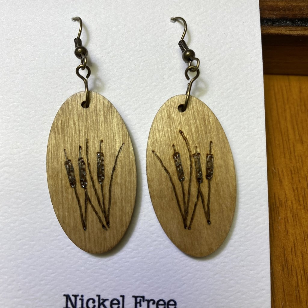 Wisco Cheer Wood Earring Cat Tails