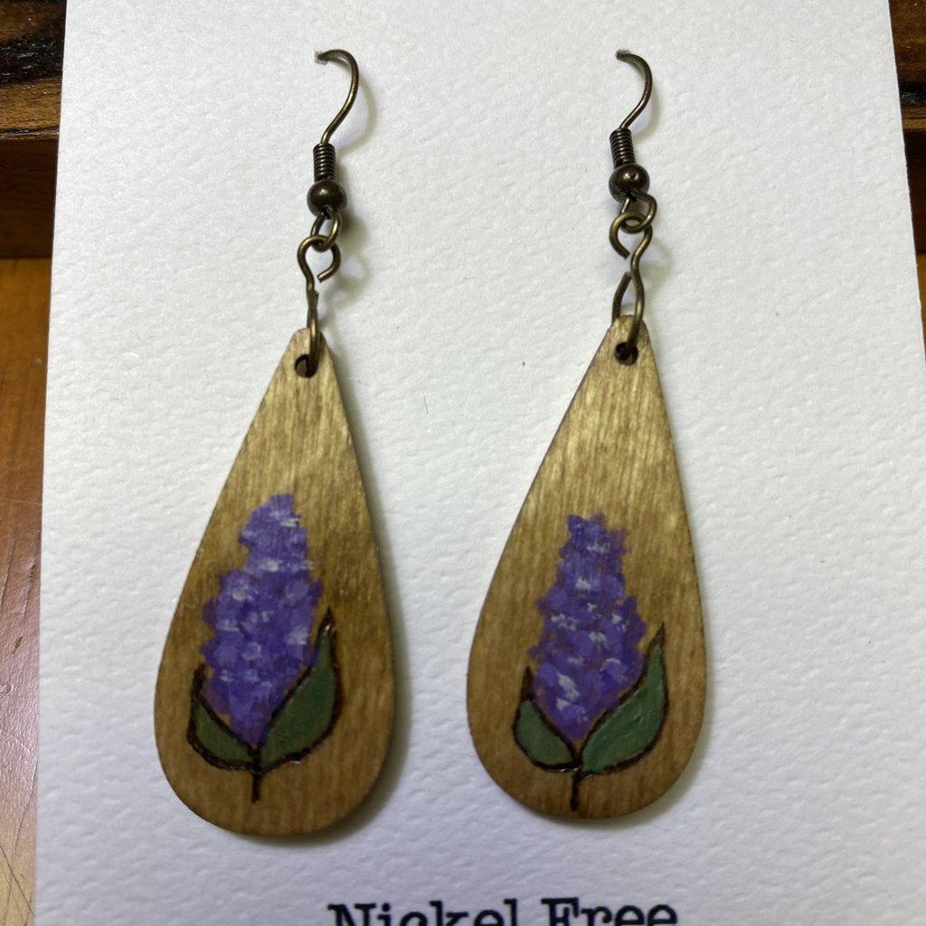 Wisco Cheer Wood Earring Lilac