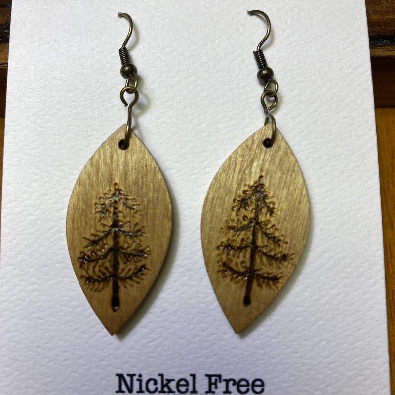 Wisco Cheer Wood Earring Pine