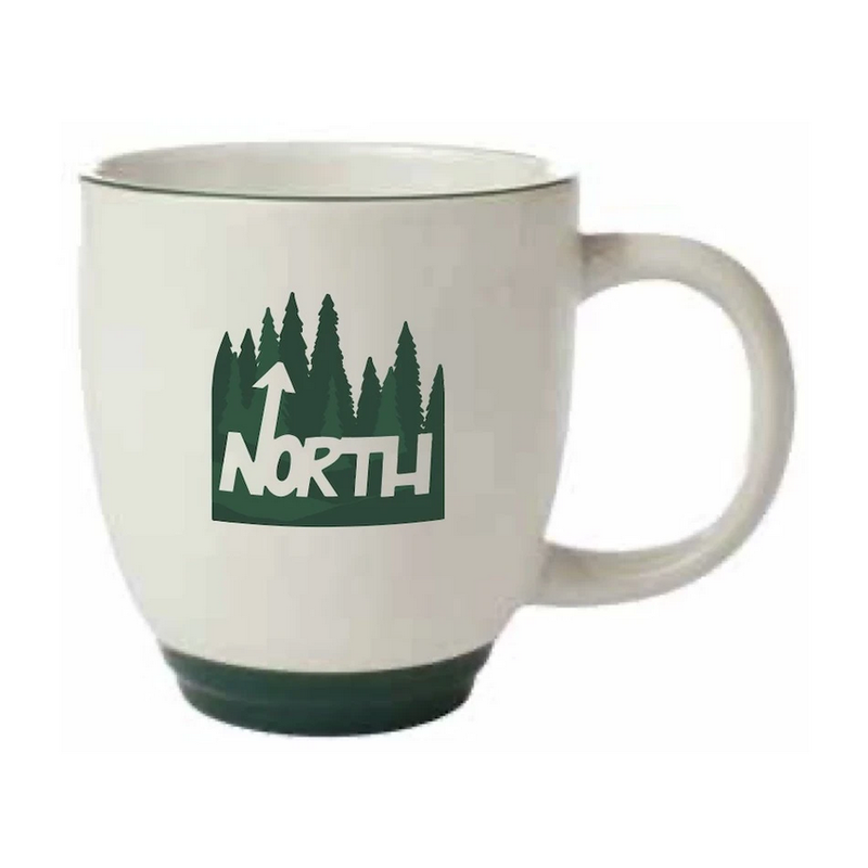 Northern Glasses North Mug (Green & White)