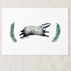 Badger Art Print (5x7)