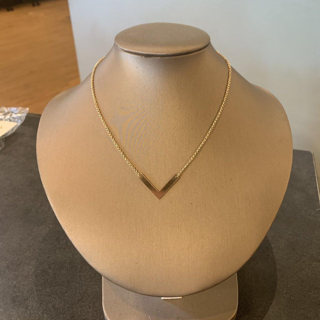 Helen Wang Jewelry Necklace - Gold Chevron