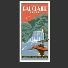 Volume One Vintage Tourism Poster - Eau Claire River
