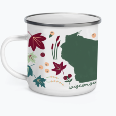 Tandem for Two Enamel Camp Mug - Wisconsin Flora & Fauna