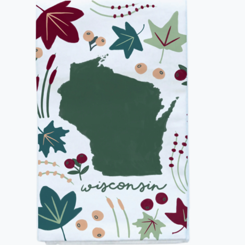 Tandem for Two Tea Towel - Wisconsin Flora & Fauna