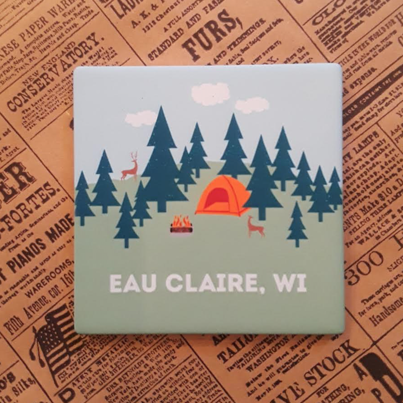 Volume One Square  Coaster-Camp Eau Claire