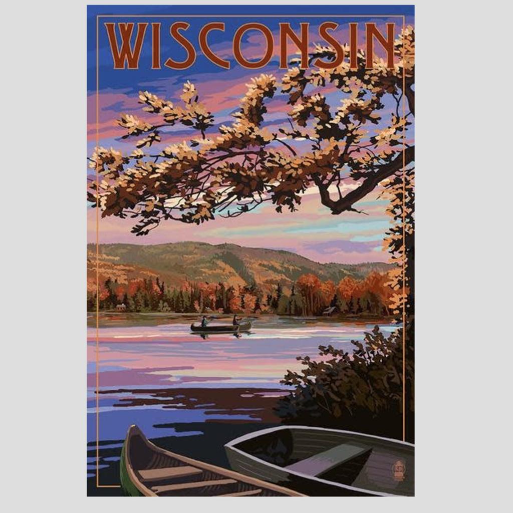Volume One Wisconsin Lake Sunset Print (12x18)