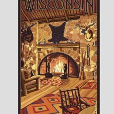 Volume One Wisconsin Lodge Interior Print (12x18)