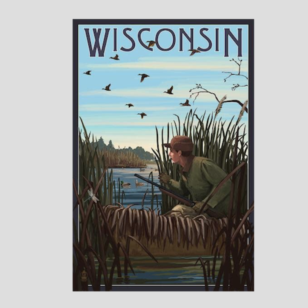Volume One Wisconsin Hunter & Lake Print (12x18)