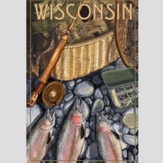 Volume One Wisconsin Fishing Still Life Print (12x18)