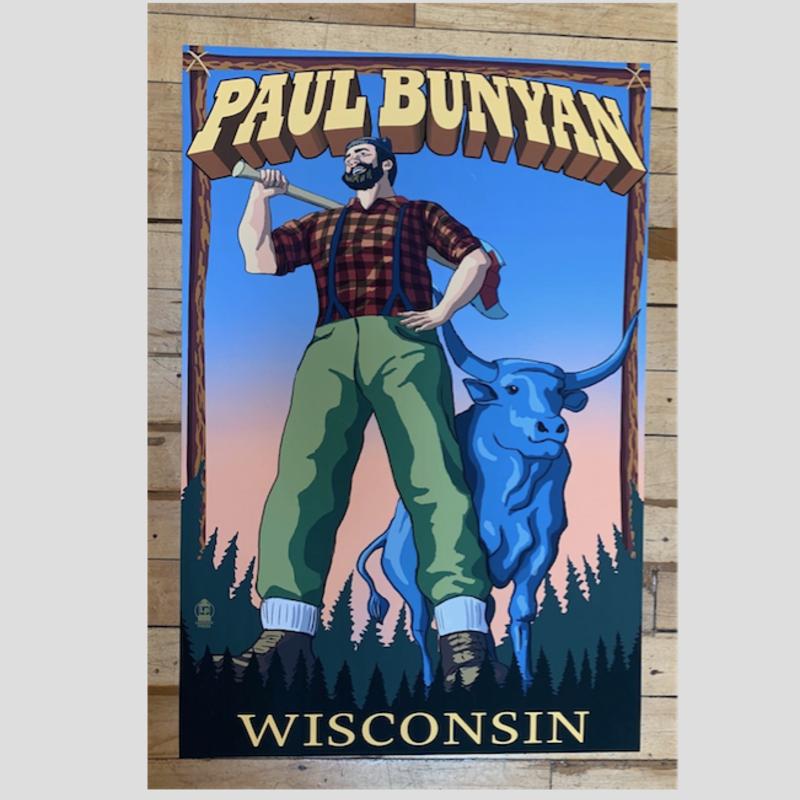 Volume One Paul Bunyan Wisconsin Print (16x24 Giclee)