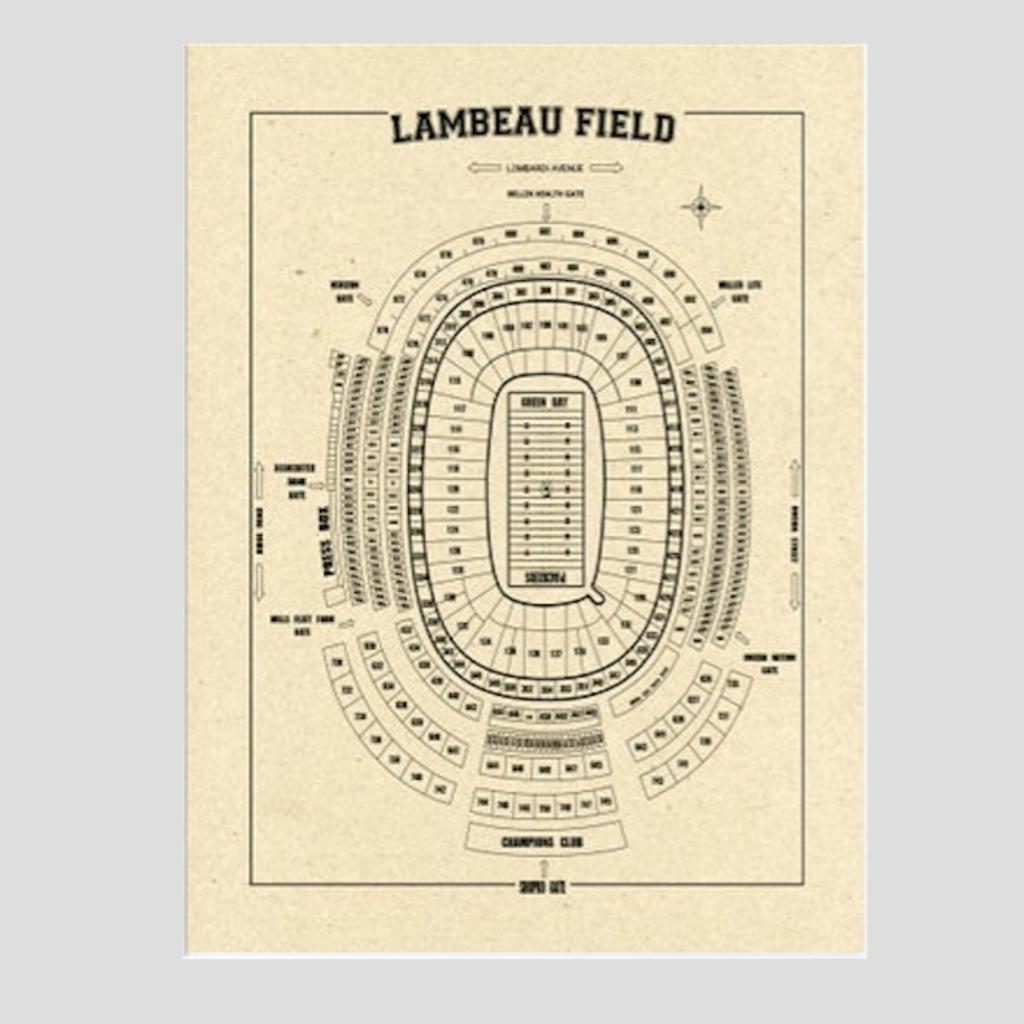 Volume One Lambeau Field Print - Tan