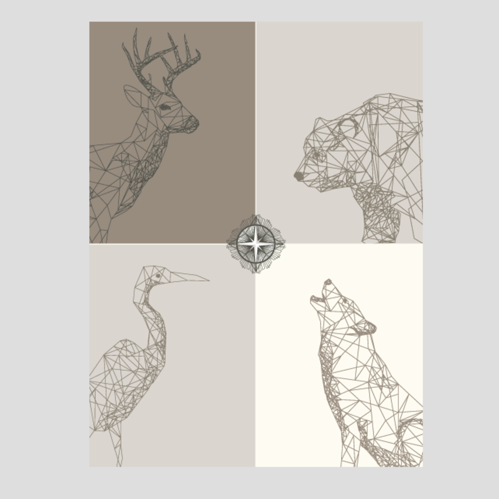 Volume One Geo Animals Print