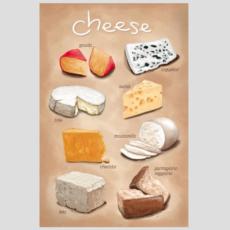 Volume One Cheese Varieties Print (12x18)
