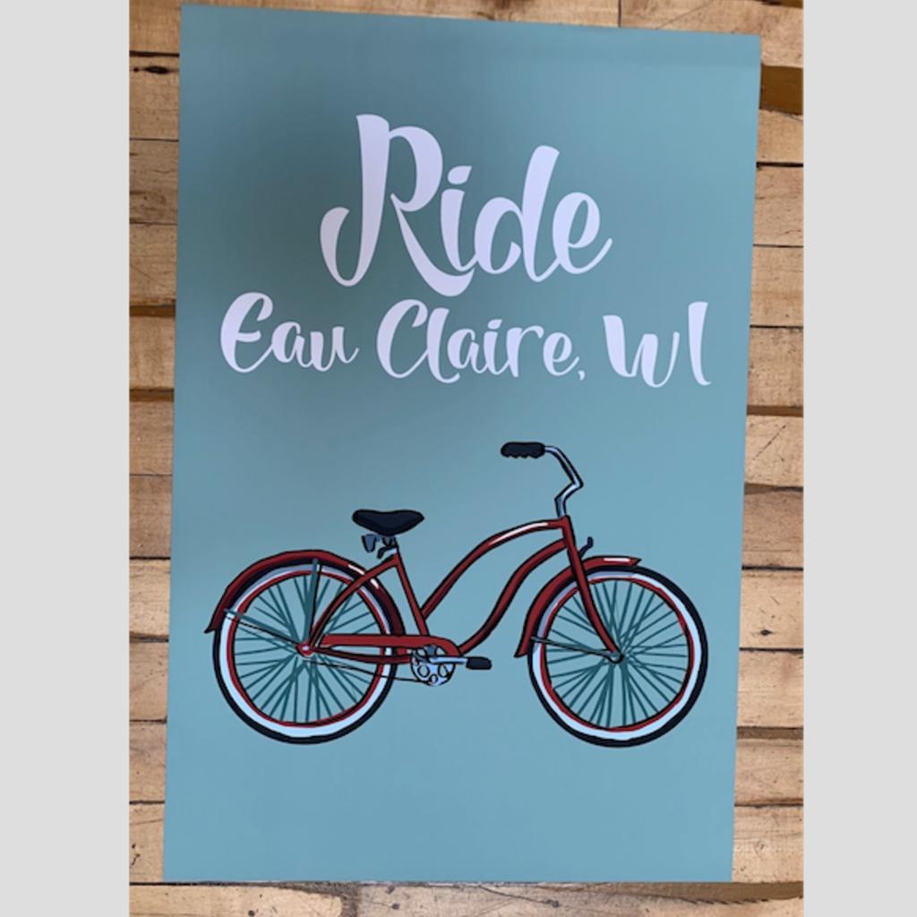 Volume One Ride Eau Claire Bike Print (16x24 Giclee)