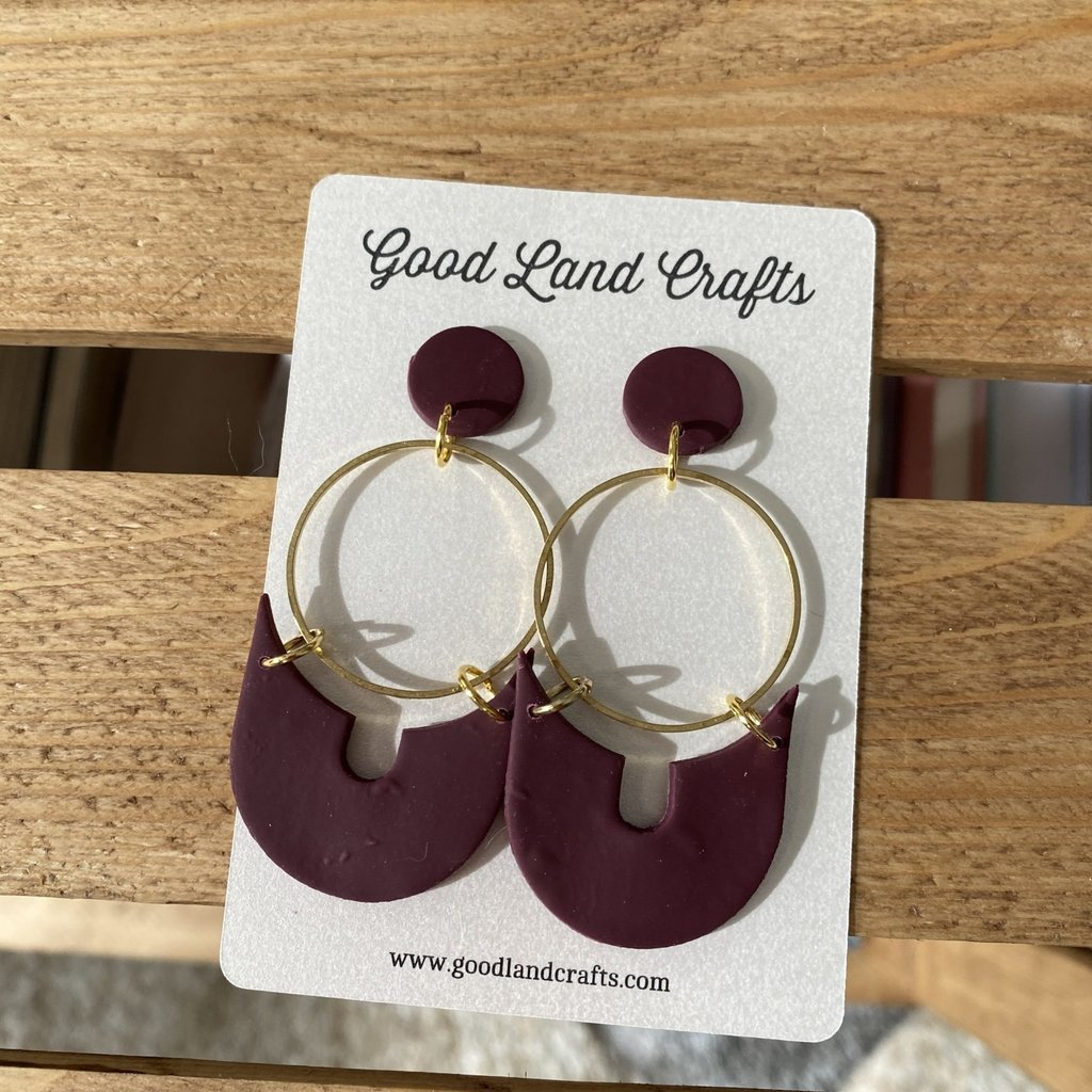 Three Point Round Earrings