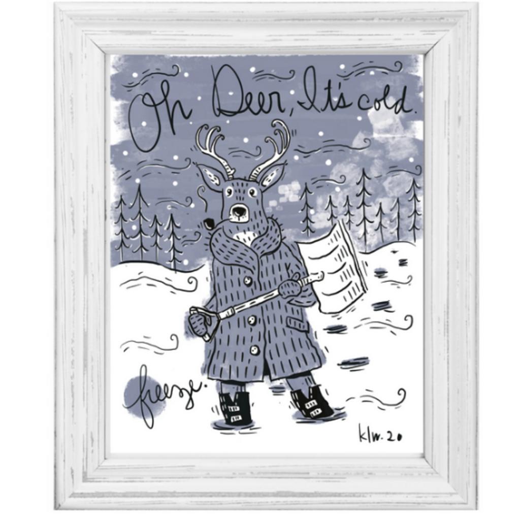 Oh Deer! It's Cold! Print (11x14)