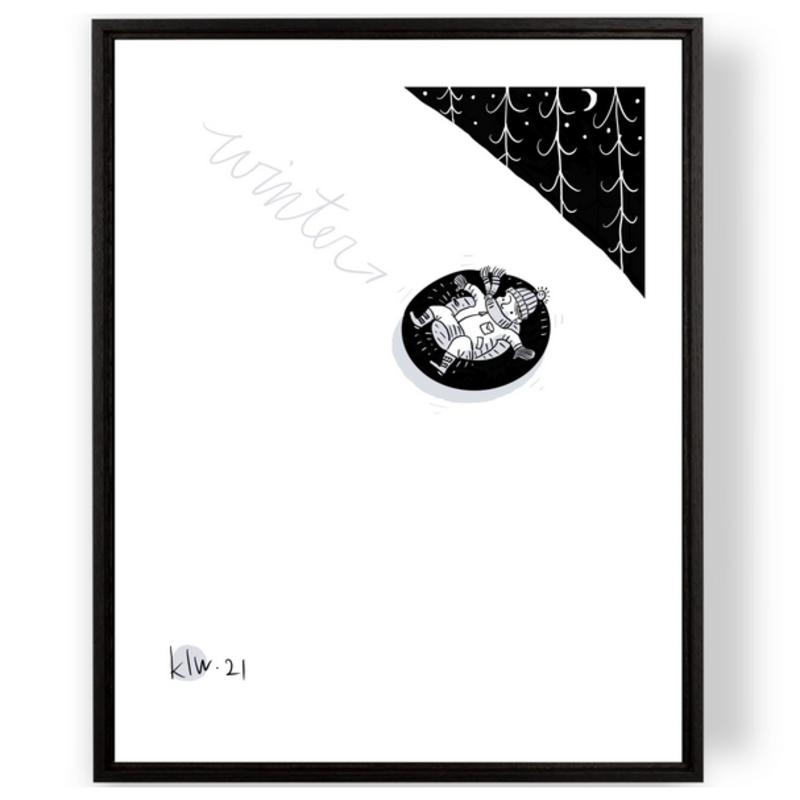 Winter Tubing Print (11x14)
