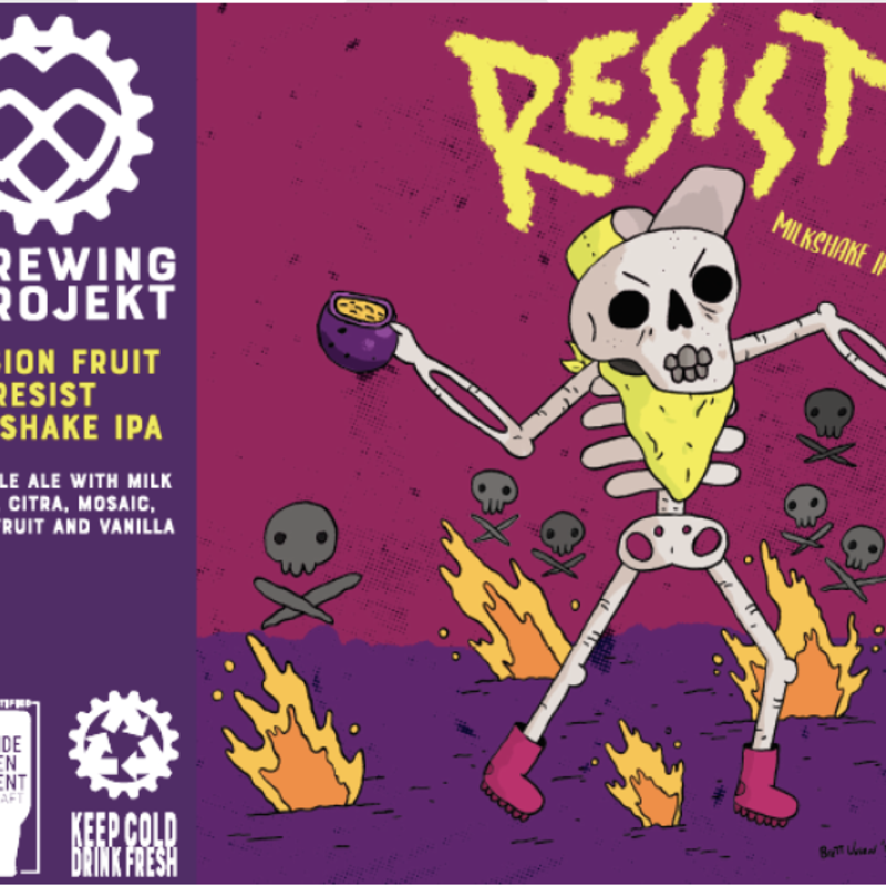 The Brewing Projekt Brewing Projekt Beer - Passion Fruit Resist Milkshake IPA (16 oz.)