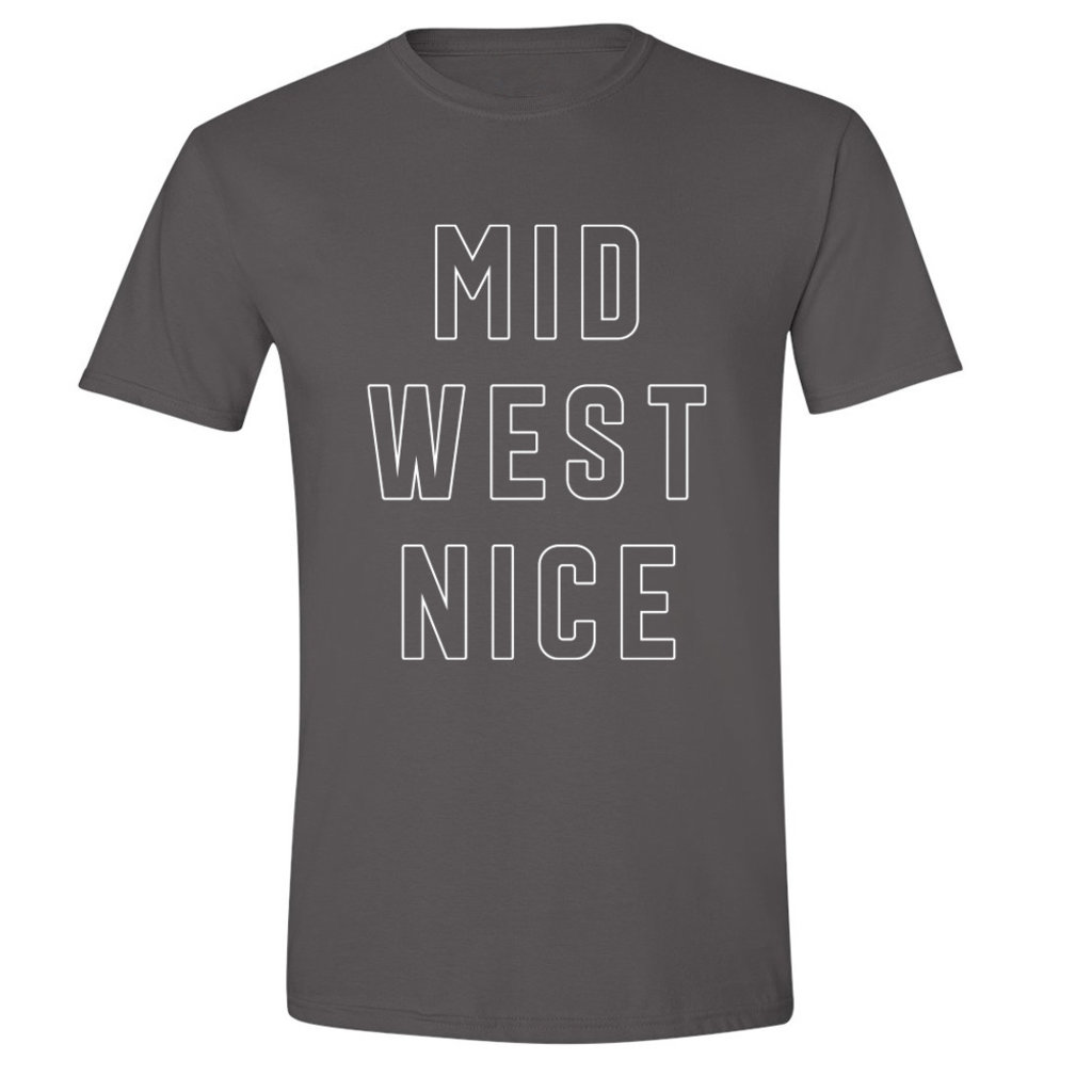 Midwest Nice Tee (Charcoal)
