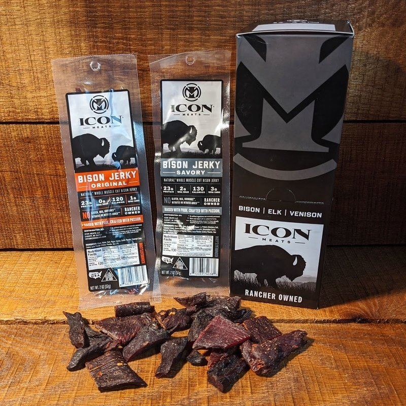 Icon Meats Bison Jerky - Savory (Peppered) (2 oz.)