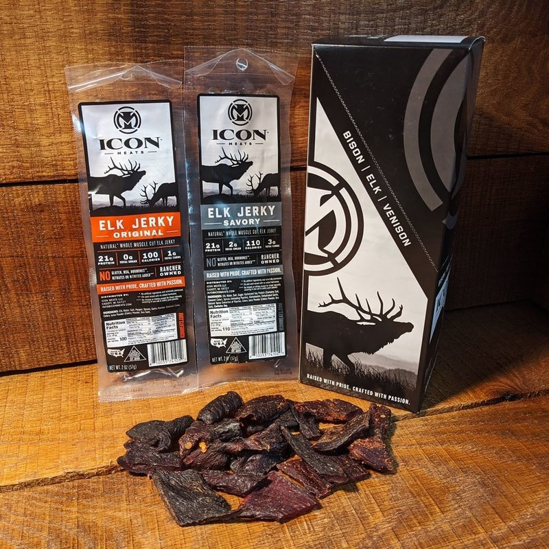 Icon Meats Elk Peppered Savory Jerky (2 oz)