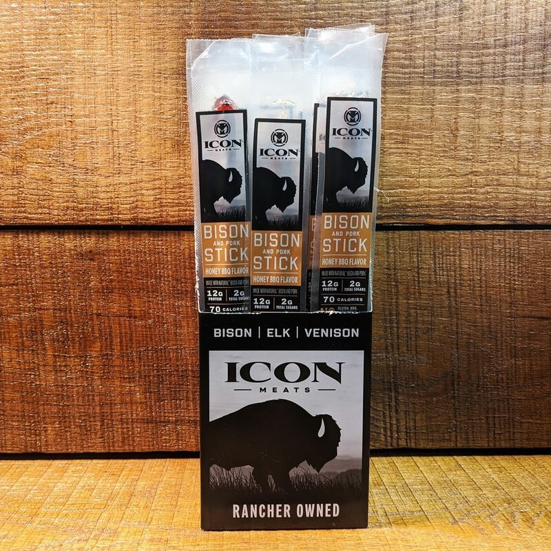 Icon Meats Bison Snack Stick - Honey BBQ (Individual)