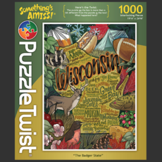 Puzzle Twist The Badger State Jigsaw Puzzle
