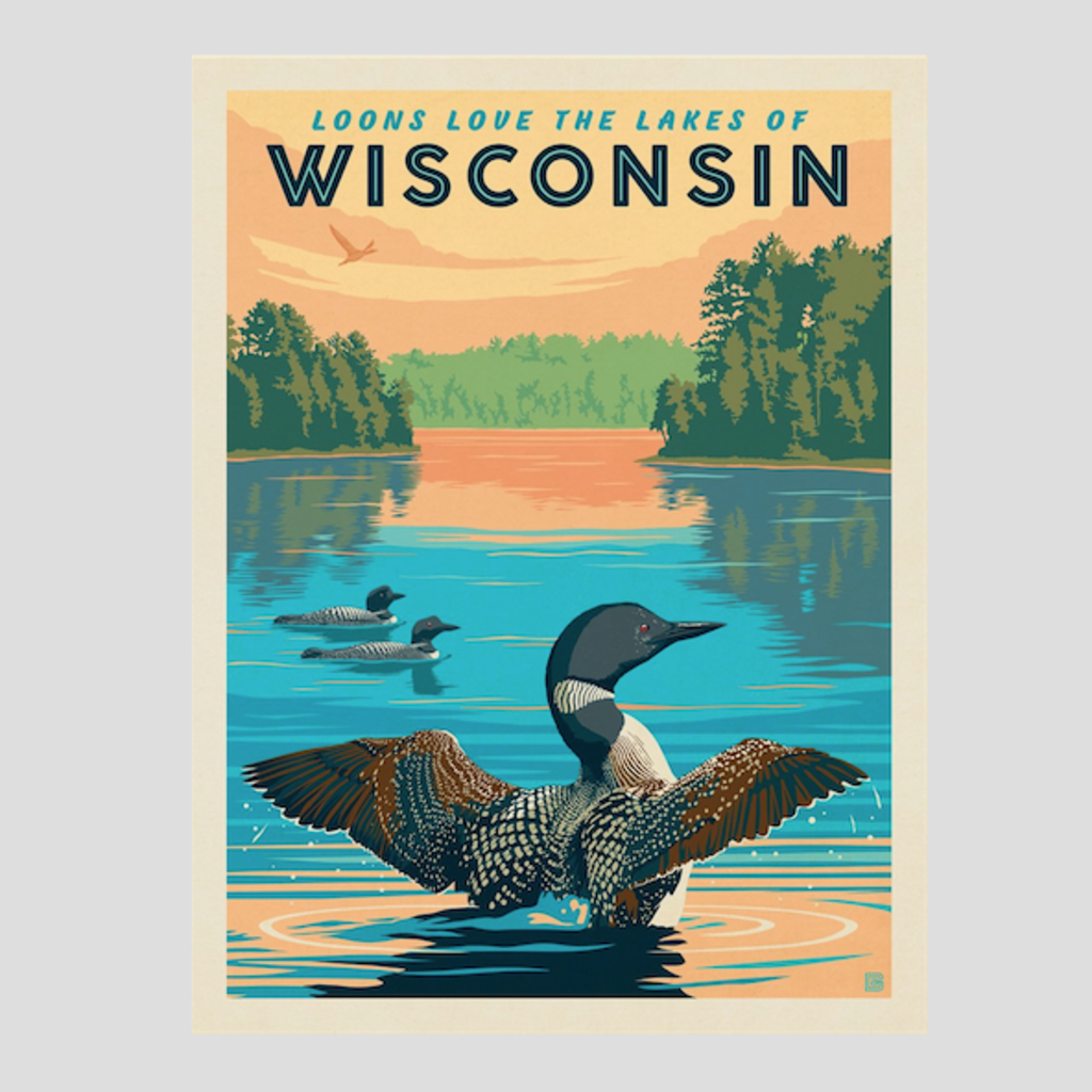 Wisconsin Loons Print