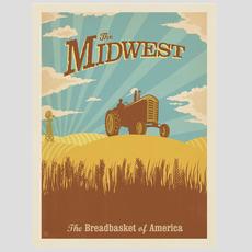 Midwest Breadbasket +Tractor Print