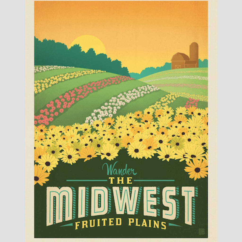 Midwest Fruited Plains Print
