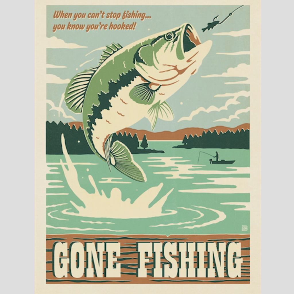 Gone Fishing Print