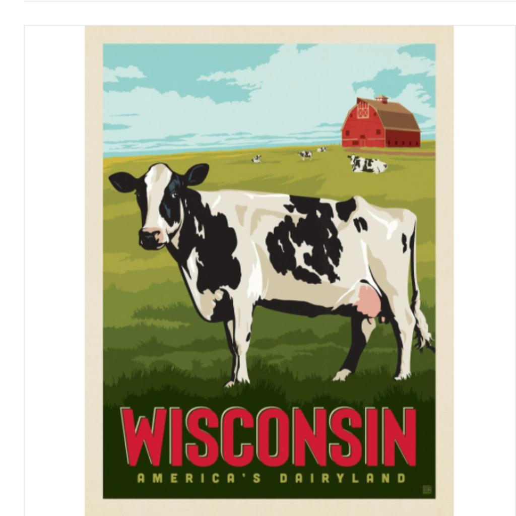 Wisconsin: America's Dairyland Print