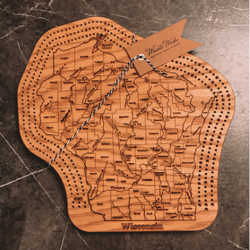 Wisconsin Cribbage Board -Triple Track
