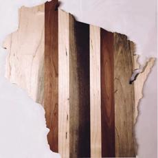 Wisconsin Shaped Charcuterie Board (13x13)