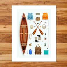 Canoeist Art Print (11x14)