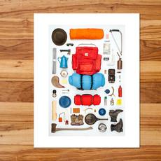 Adventures In Camping Art Print (11x14)