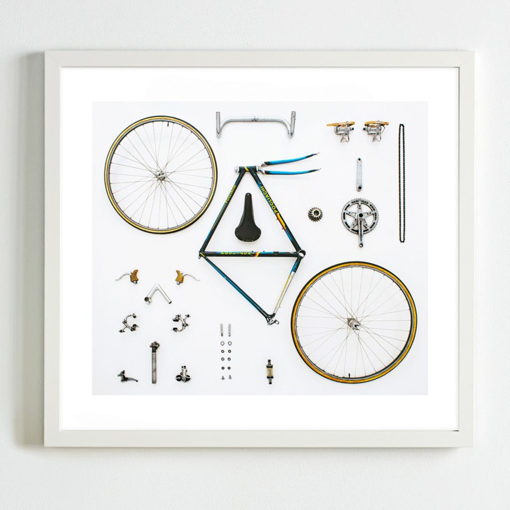 Cyclist Art Print (12x12)