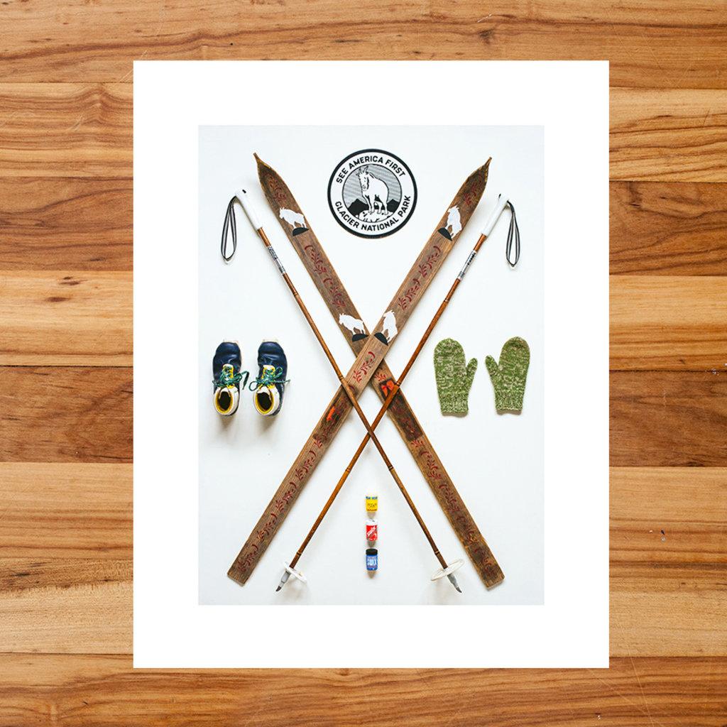 Nordic Skier Art Print (11x14)