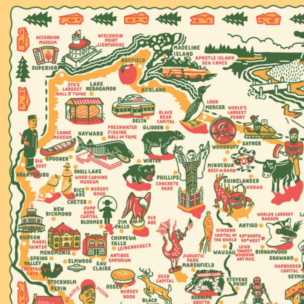 Keep the Faye Wonders of Wisconsin Print