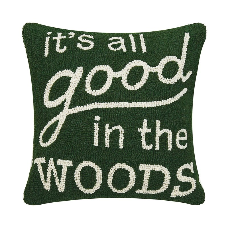 Volume One Hook Pillow - All Good in the Woods