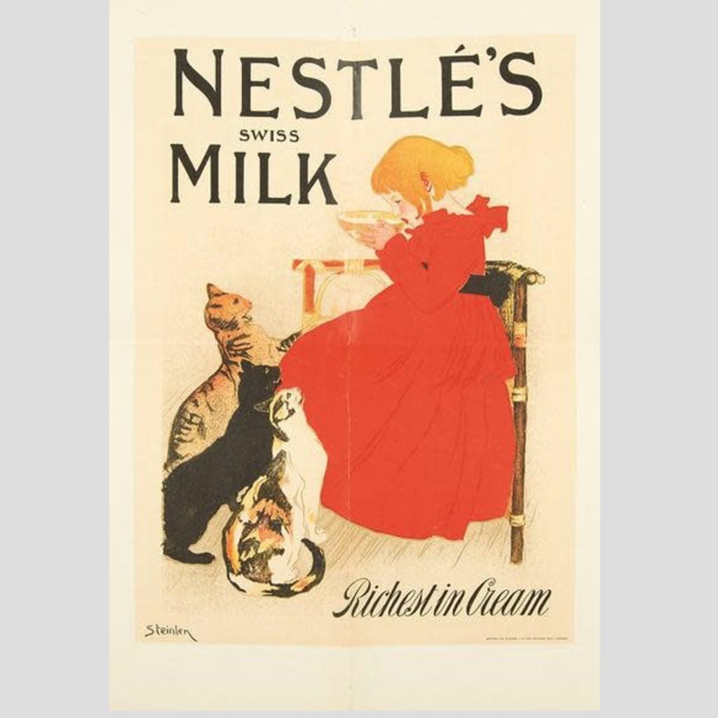 Volume One Metal Sign - Nestle Milk